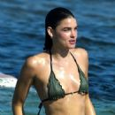 Bambi Northwood Blyth in Tiny Bikini on the beach in Ibiza - 454 x 681