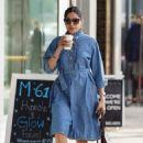 Freida Pinto in Denim Dress – Shopping in LA - 454 x 681