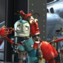 Left: Rodney Copperbottom (voiced by Ewan McGregor); Right: Fender (voiced by Robin Williams).