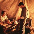 James Van Der Beek and Dylan McDermott in Dimension's Texas Rangers - 2001