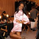 Selita Ebanks - Backstage At Victoria's Secret Fashion Show 2009