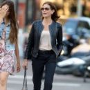 Teri Hatcher goes for a walk with her daughter Emerson Tenney on August 14, 2015 in New York City