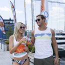 "Katrina Bowden and Kellan Lutz host OP's ""Surf For Life"" event on July 30, 2013 in New York City"