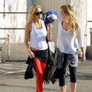 Kate Hudson leaving a gym after a work out on New Years Eve in Brentwood, California on December 31, 2013