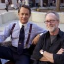 Tom Hanks and producer Gary Goetzman in the set of Charlie Wilson's War.