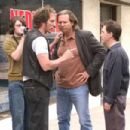 L to R: Patrick Fugit as Emmett, William Fichtner as Otis, Jeff Bridges as Andy and Tim Blake Nelson as Barney in The Amateurs.