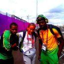 Lolo Jones with Yohan Blake&Usain Bolt - 454 x 340