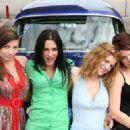 The four girls: Carlee Baker as Mary, Eve Mauro as Jill, Robin Sydney as Ilene and Eryn Joslyn as Helen in Wicked Lake.