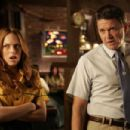 Erin Foster ('Kristy,' left) and John Michael Higgins ('Dennis,' right) star in Lionsgate Home Entertainment's Still Waiting. - 454 x 302