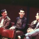 John Simm as Bernard Sumner, Ralf Little as Peter Hook and Paddy Considine as Rob Gretton in MGM's 24 Hour Party People - 2002