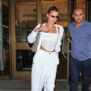 Bella Hadid – All in white out in NYC