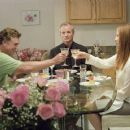 Christopher McDonald (left), Bill Murray (center) and Frances Conroy (right) star in Jim Jarmusch's BROKEN FLOWERS, a Focus Features release. Photo by David Lee.