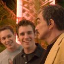 Bret Harrison as Alex (center) with Burt Reynolds as Tommy in Metro-Goldwyn-Mayer (MGM) 'Deal.'