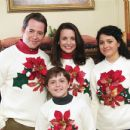 L to R: Matthew Broderick as Steve, Kristin Davis as Kelly, Dylan Blue as Carter and Alia Shawkat in Deck the Halls - 2006