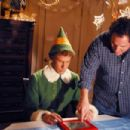Will Ferrell (left) and Director Jon Favreau (right) on the set of New Line Cinema's upcoming family comedy, Elf.