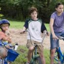 "(left to right) Ty Panitz stars as ""Woody,"" Luke Benward stars as ""Billy"" and Hallie Kate Eisenberg stars as ""Erika"" in New Line Cinema's upcoming family release, How To Eat Fried Worms. Photo Credit: 2006 - 454 x 301"