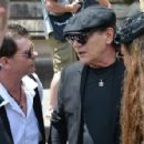 Brian Johnson and Brenda Johnson at the funeral service for AC/DC co-founder Malcolm Young at St Mary's Cathedral on November 28, 2017 in Sydney, Australia - 454 x 297