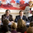 Lewis Black (two from left), Robin Williams (center) and Christopher Walken (right) in Man of the Year - 2006