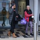 Denise Van Outen – With Matt Evers seen leaving dancing on ice rehearsals in London - 454 x 456