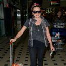 Rita Simons – Arriving at Brisbane Airport in Australia