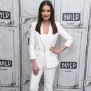 Lea Michele – Visits Build Studio in New York City