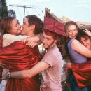 The happy graduates Left-to-Right Angela (James King,) Dave (Devon Sawa,) Jeff (Michael C. Maronna,) Reanna (Laura Prepon) and Sam (Jason Segel) in Screen Gems' Slackers - 2002