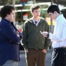 Seth (Jonah Hill, left), Evan (Michael Cera, center) and Fogell (Christopher Mintz-Plasse, right), can have the night they'll remember for the rest of their lives in Superbad, the new film from producers Judd Apatow and Shauna Robertson (The 40-Year