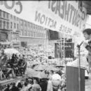 John Kerry gives a speech at a 1972 peace rally in Bryant Park, NYC. Photo credit: George Butler