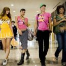 L to R: Mary Elizabeth Winstead, Rosario Dawson, Jordan Ladd and Tracie Thoms in Death Proof