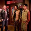 """Neil Patrick Harris (left) with Kal Penn (center) as """"Kumar"""" and John Cho (right) as """"Harold"""" in New Line Cinema's upcoming release HAROLD AND KUMAR ESCAPE FROM GUANTANAMO BAY. Photo Credit: Jaimie Trueblood/New Line Cinema"""