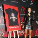 Rihanna At Hard Rock Cafe In Paris