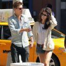 "Xavier Samuel, ""Twilight Saga"" actor, and his model girlfriend Shermine Shahrivar are spotted strolling hand in hand in Manhattan"