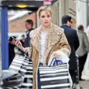 Suki Waterhouse in Animal Print Coat – Shopping in Notting Hill