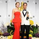 Jennifer Lawrence and Matthew McConaughey - The 86th Annual Academy Awards - Press Room - 454 x 557