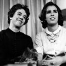 Carol and sister Chrissie on Person to Person, 1961 - 454 x 501
