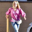 Kristen Bell – In Jeans out of a spa in Los Feliz CA