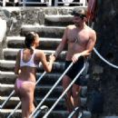 Irina Shayk in Pink Bikini on holiday in Positano