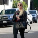 Ashlee Simpson in Tights – Out and about in Studio City