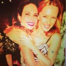 Luciana Gimenez and Kylie Minogue