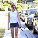 Ashley Greene – Walking her dog in Beverly Hills - 454 x 681
