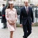 Catherine, Duchess of Cambridge and Prince William, Duke of Cambridge attend the Observance for Commonwealth Day Service At Westminster Abbey (March 9, 2015)