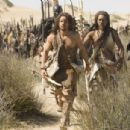 "STEVEN STRAIT as D'Leh and CLIFF CURTIS as Tic'Tic lead the tribesmen in Warner Bros. Pictures' and Legendary Pictures' epic adventure ""10,000 B.C.,"" distributed by Warner Bros. Pictures. Photo by Ollie Upton"