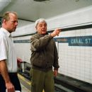 "Bruce Willis and director Richard Donner on the set of Alcon Entertainment and Millennium Films' action thriller ""16 Blocks,"" also starring Mos Def and David Morse and distributed by Warner Bros. Pictures. Photo by Ava Gerlitz - 454 x 305"