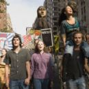 (L to R)Jim Sturgess as Jude, Evan Rachel Wood as Lucy, T.V. Carpio as Prudence and Joe Anderson as Max in Across the Universe. - 447 x 295