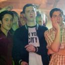 Kevin (Thomas Ian Nicholas), Finch (Eddie Kaye Thomas) and soon-to-be-married Jim (Jason Biggs) go clubbing