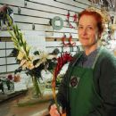 (Lisa) At work at the flower shop. She specializes in funeral arrangements. - 454 x 301