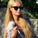 Paris Hilton Having Lunch At Lemonade Restaurant In Beverly Hills