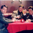 Greg Kinnear as Bob Crane, Michael E. Rodgers as Richard Dawson and Willem Dafoe as John Carpenter in Sony Pictures Classics' Auto Focus - 2002 - 454 x 303
