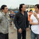 Director Oxide Pang (right) on the set of BANGKOK DANGEROUS. Photo credit: Chan Kam Chuen.