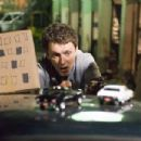 Director Michel Gondry explains a scene on the set of his latest film BE KIND REWIND, being released by New Line Cinema. Photo Credit: Abbot Genser/New Line Cinema